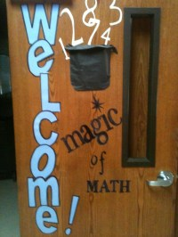Welcome Door Magic of Math