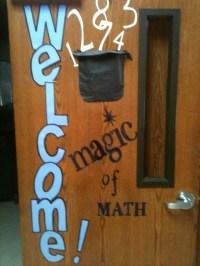 Welcome Door Magic of Math