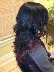 black and red ombre work