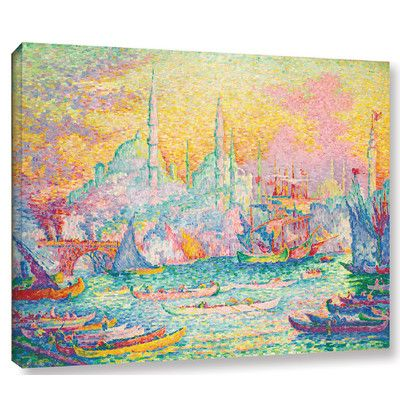 andover mills la corne dor by paul signac painting print on wrapped canvas