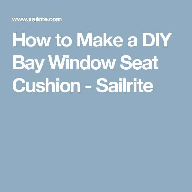 17 Best ideas about Bay Window Cushions on Pinterest