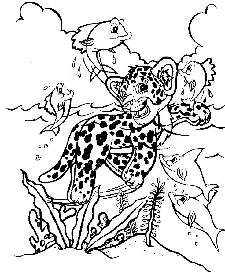 Lisa Frank Animals Coloring Pages Download And Print For
