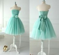 Mint Tulle Bridesmaid Dresses For Teens Young Girls 2014 ...