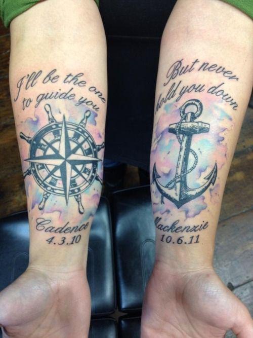 watercolor forearm tattoo design