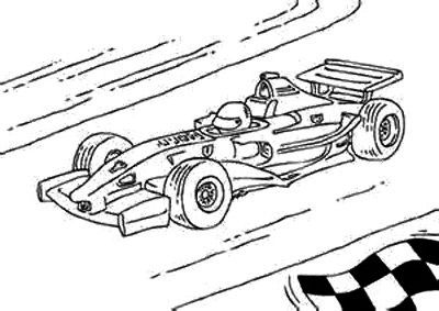 Print the F1 Race Car Coloring Page and then fill it with