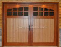Wood Garage Door. Stable Door. Two Tone Garage Door with ...