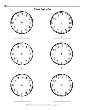 17 best images about Telling Time by the Quarter Hour on