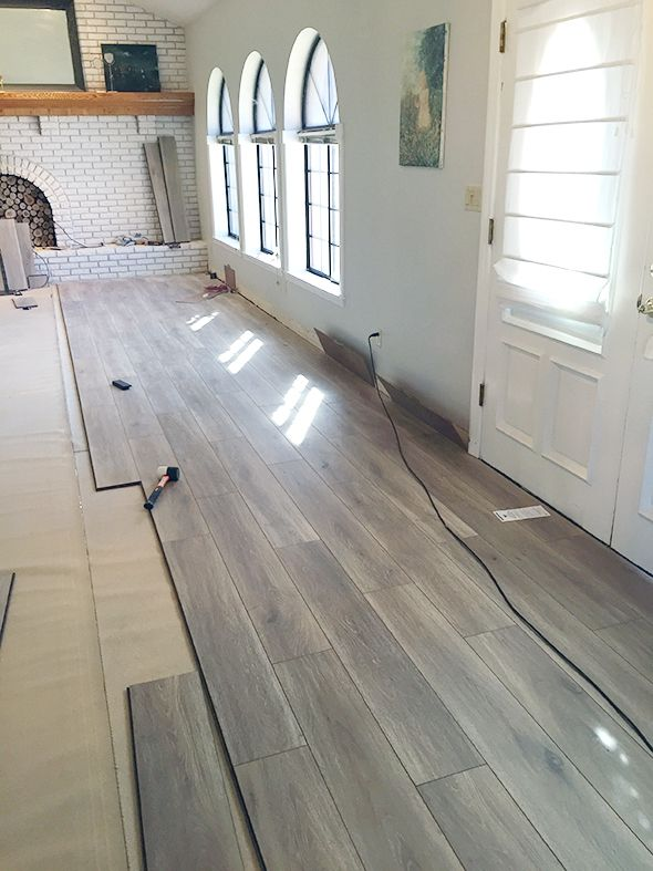 WaterResistant Laminate Flooring  Little Green Notebook  Basement redo  Pinterest  Flooring