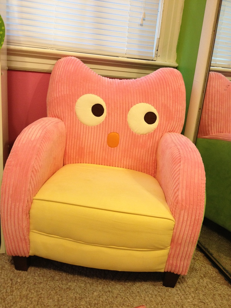 Pink and green owl chair  Audreys room  Pinterest  Owl