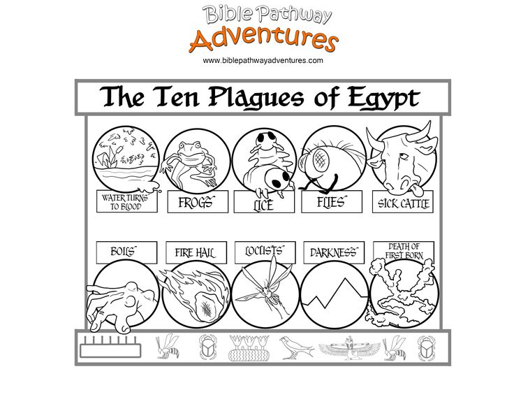 A coloring page from the story, Escape from Egypt. Did you