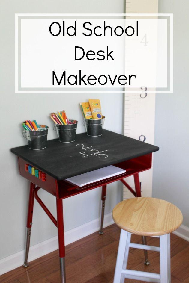 Antique School Desk Repurposed