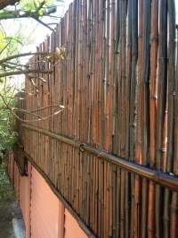 """""""Mosso"""" bamboo wall extension, done with mahogany bamboo ..."""