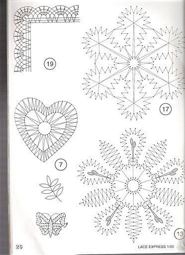 1189 best images about bobbin lace pattern on Pinterest