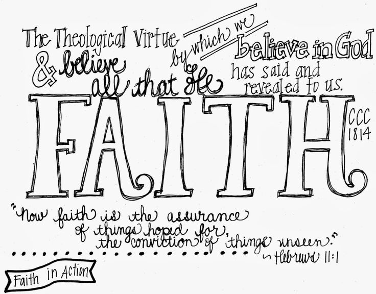 Printable notes for the three Theological Virtues; faith