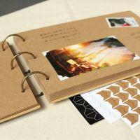 Square Ring Binder Kraft Scrapbook Album // 48 pages ...