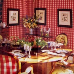 French Country Kitchen Curtains Cabinets Paint 1000+ Images About Checks~~red And White On Pinterest
