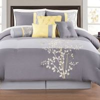 Yellow and Gray Bedding Sets | Charlee 12 Piece Comforter ...