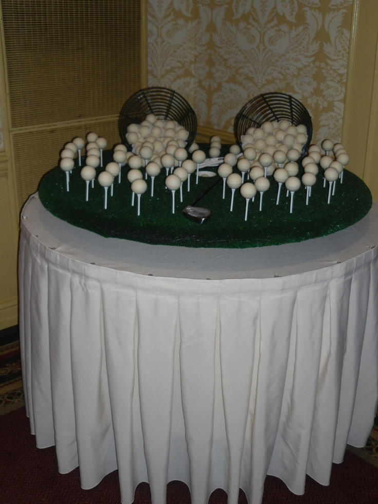 Cake truffles shaped like Golf balls for a grooms table  My CakePops Creations  Pinterest