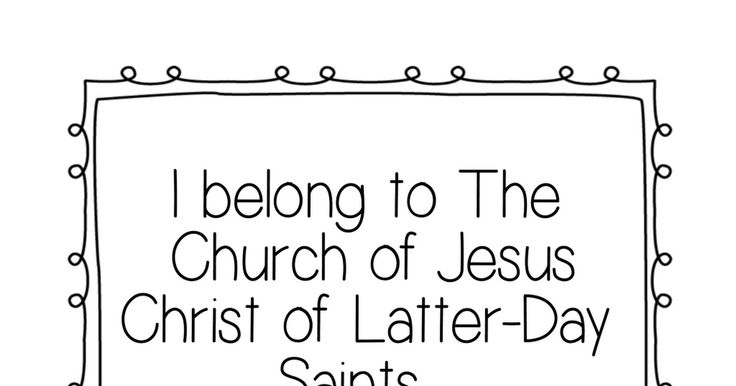 i belong to the church of jesus christ flip chart