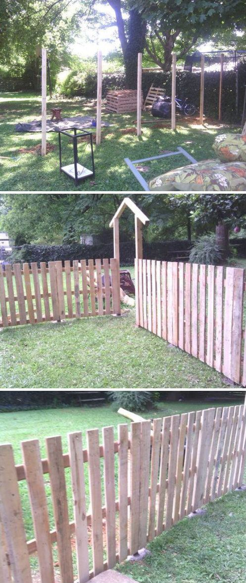 Doing a fence like this for Pipers play area but making
