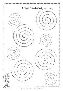 spiral tracing worksheets. Help your child practice and