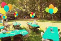 Backyard cookout/pool party setup   Noah's 1st Birthday ...