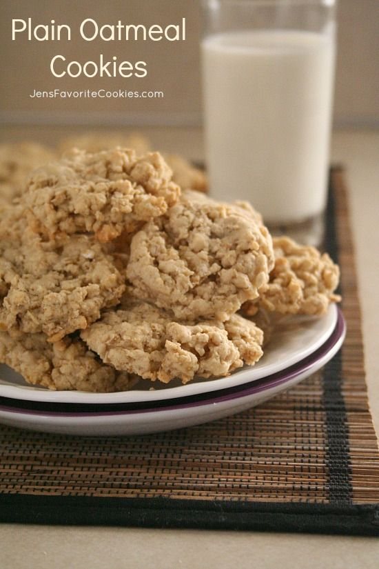 There is nothing plain about these awesome Plain Oatmeal Cookies from Jens Favorite Cookies