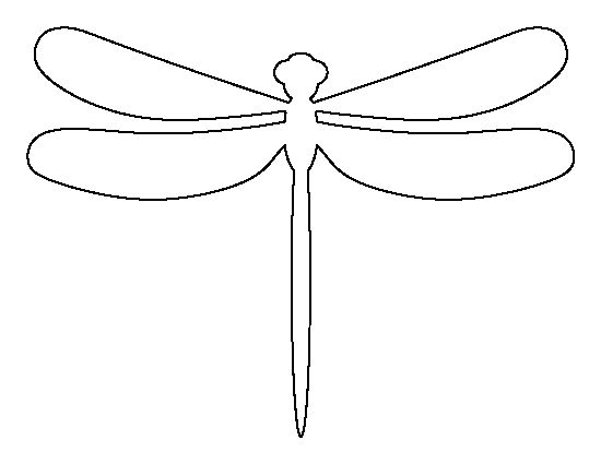 Dragonfly pattern. Use the printable outline for crafts