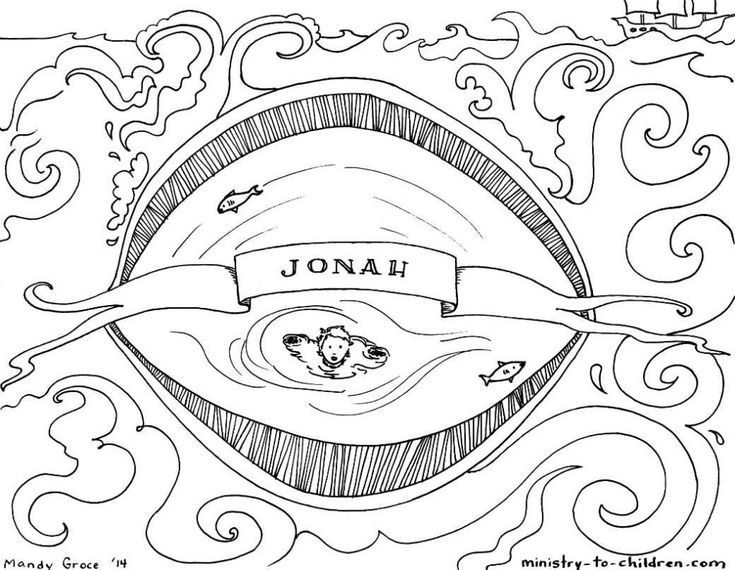 This free coloring page is based on the book of Jonah. It