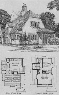 English cottage vintage house plan | B-Architecture ...