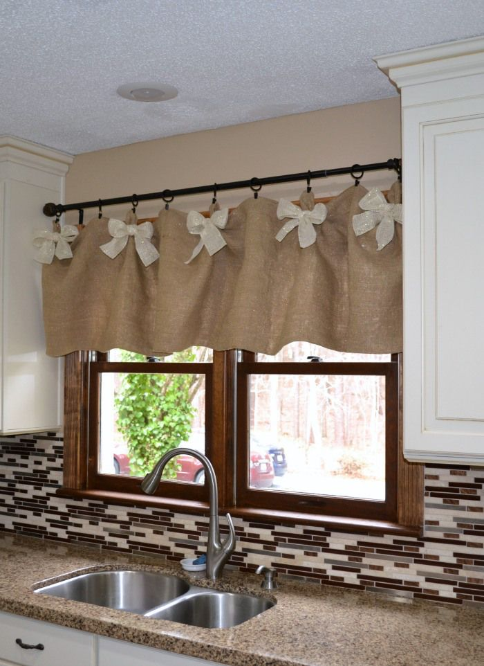 25 best ideas about No Sew Valance on Pinterest  Kitchen