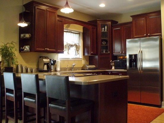 L Shaped Kitchen Designs With Snack Bar