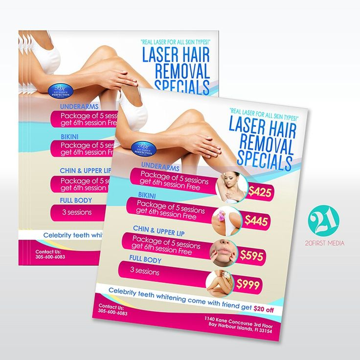 Laser Hair Removal Flyer Design Projects Pinterest
