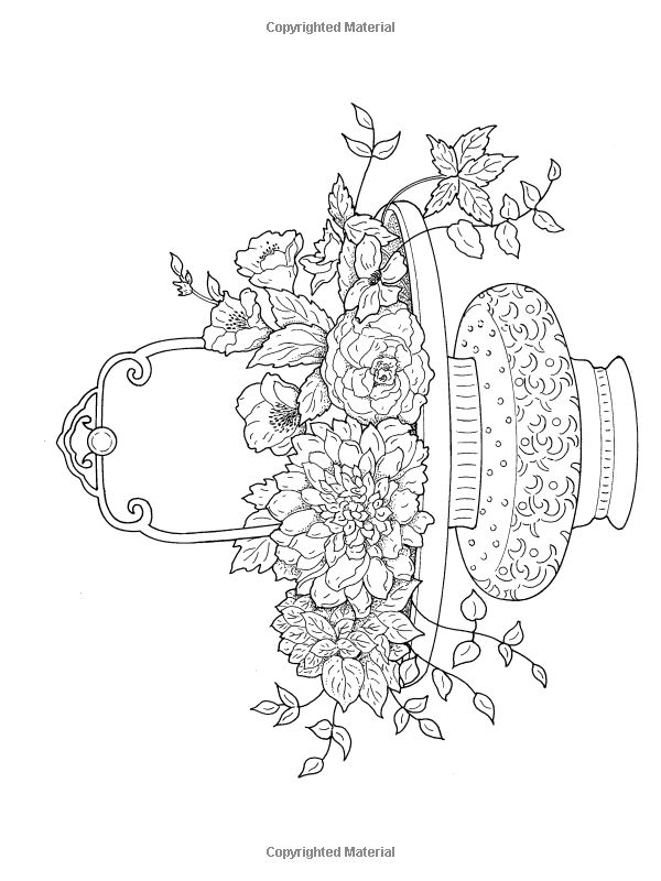 Flower Arrangement Coloring Pages Sketch Coloring Page