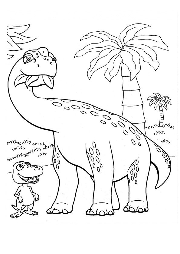 10 Cute Dinosaur Train Coloring Pages Your Toddler Will