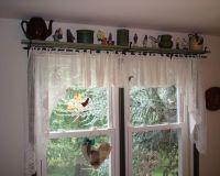 Pair of Small Black Iron Shelf/Curtain Rod Brackets