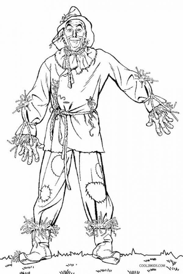 Scarecrow from Wizard of Oz kids printable coloring pages