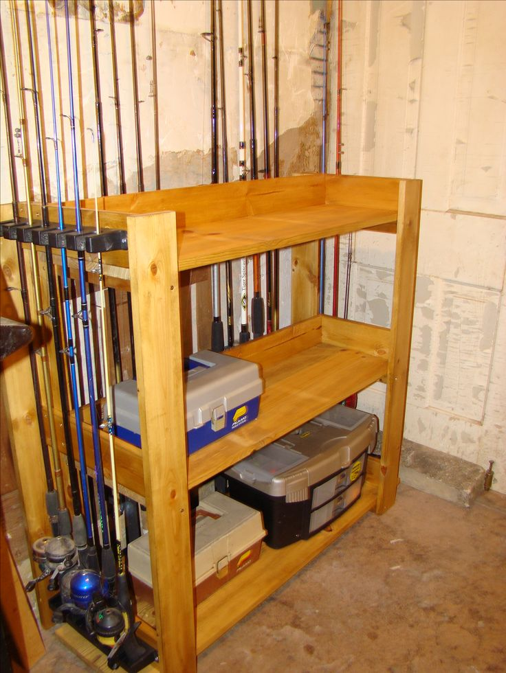 Wood Fishing Rod Racks Home Woodworking Projects Plans