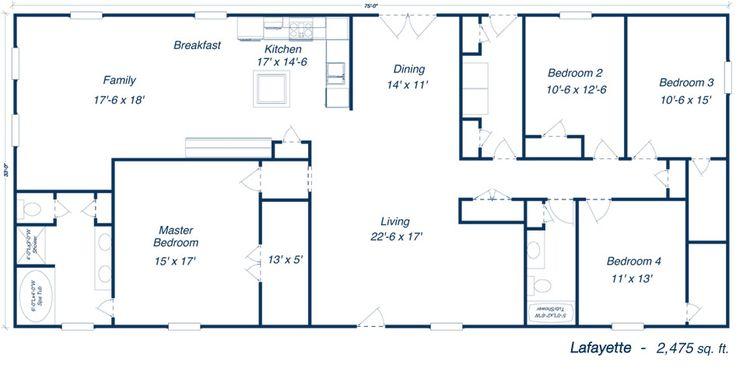 Metal 40x60 Homes Floor Plans
