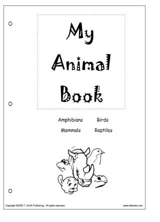 Snapshot image of the cover of My Animal Book printable