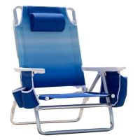 Nautica Beach Chair w/Side Cooler Pouch & Cup Holders ...