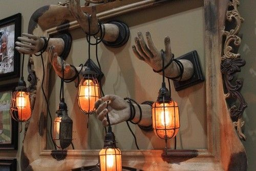 You could easily make this with the dollar store hands, love the light..reminds me of