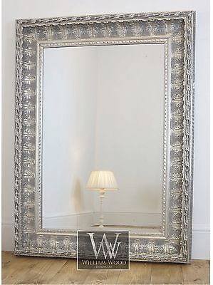 Alderley Silver Ornate Rectangle Vintage Wall Mirror 60 x