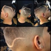 short hair fade barber design borrowed