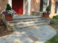 Stone walkway and front steps #landscaping | Paving Stones ...