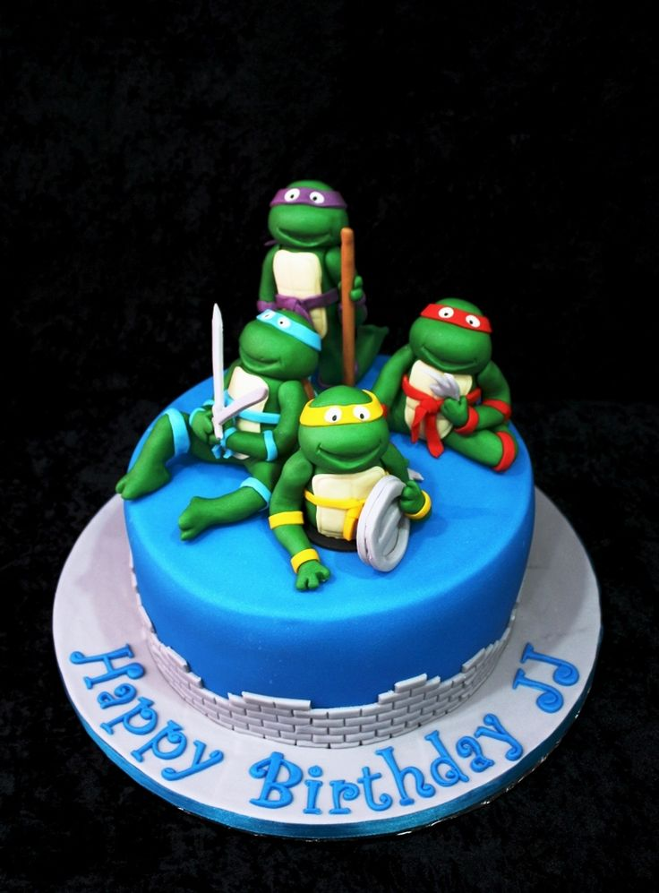 1000 Images About Tartas Tortugas Ninja On Pinterest