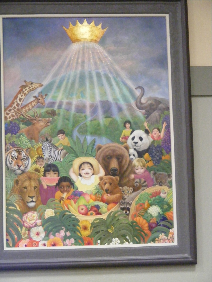 Cute Angel New Wallpaper Painting Inside The Assembly Hall Of Jehovah S Witnesses