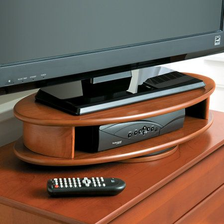 Fitueyes Floor Universal Tv Stand Base With Swivel Mount And