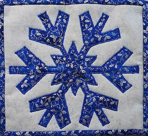 Blue Amp White Snowflake A Mug Rug Monday Post Quilts By