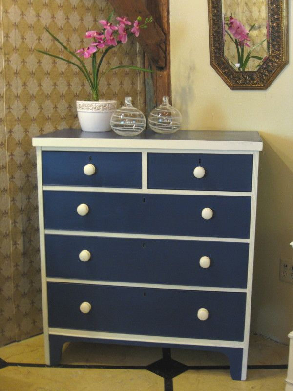 English Chest of Drawers circa 1880s  painted in